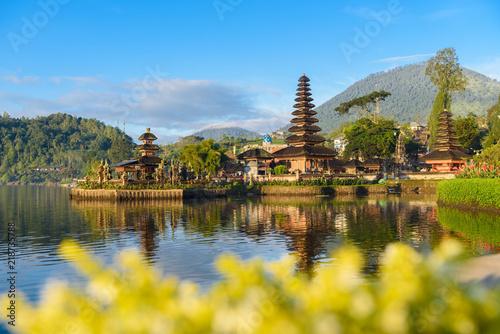 Aluminium Prints Indonesia morning sunrise at Pura ulun danu bratan,Bali Indonesia travel location