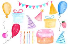 Watercolor Birthday Party Clip...