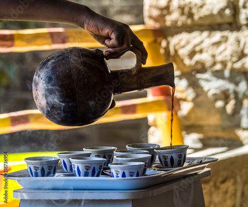 Türaufkleber Afrika Äthiopien - Kaffeezeremonie in Yeha