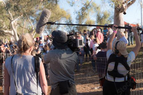 Fényképezés Media crew at work