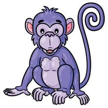 Monkey Cute Cartoon Illustrat...