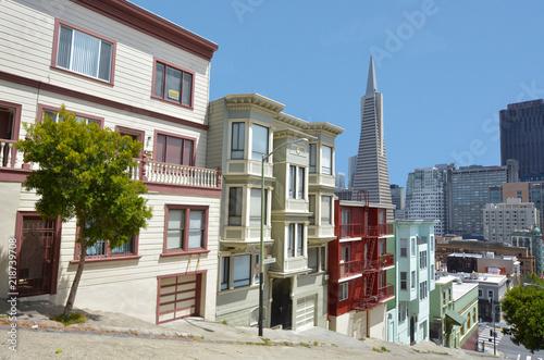 San Francisco downtown skyline in California USA