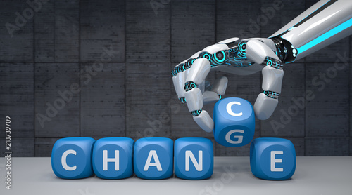 Fototapeta Robot Hand Change Chance