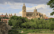 cityscape of Salamanca with view of new city cathedral