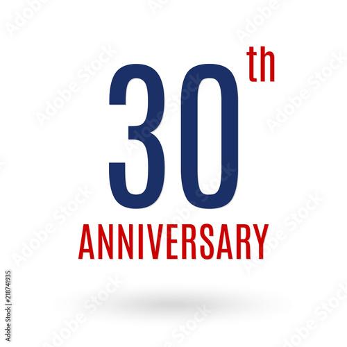 30 Years Anniversary Logo 30th Celebration Icon Birthday Invitation Wedding