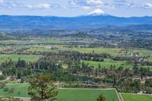 Panorama View Of Mt Mcloughlin...