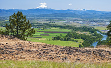 Vista Of Mt Mcloughlin And The Rogue River From The Table Rocks Plateau In Southern Oregon