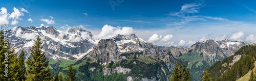 Poster Alpen Switzerland, Engelberg Alps panorama view