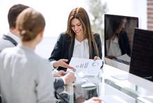Business Team Analyzing Financ...