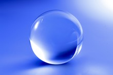 Glass Ball In Abstract Blue