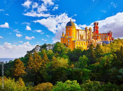 Foto op Plexiglas Europa Palace of Pena in Sintra. Lisbon, Portugal. Famous landmark.