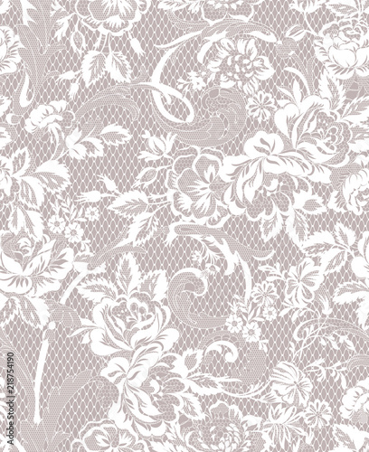 Fotomural floral lace seamless pattern