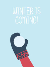 Winter Is Coming Card Vector T...