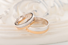 Rose Gold And Silver Wedding Rings