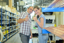 Couple In Hardware Store With ...