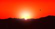Leinwandbild Motiv sunset at sea