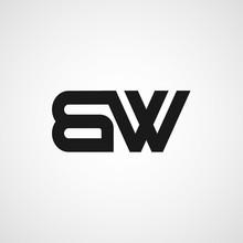 Initial Letter BW Logo Template Design