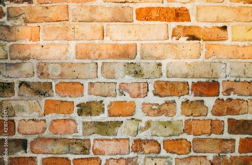 Foto op Aluminium Wand Old bricks wall texture background outdoors. Vintage wall.