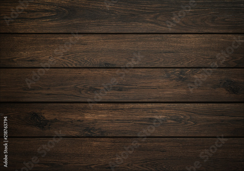 Dark wood background. Wooden board texture. Structure of natural plank.