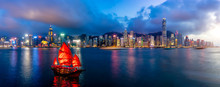 Panorama Of Hong Kong City Sky...