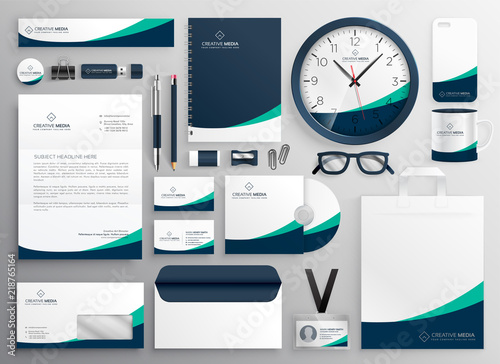Fototapeta clean business stationery for your brand obraz