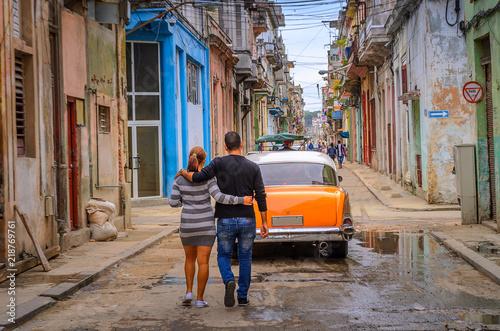 Foto op Plexiglas Havana Street in the old historical part of the Cuban capital of Havana