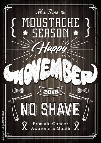 Photo  Movember Poster Vintage Design