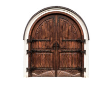 Wooden Antique Gate Isolated O...