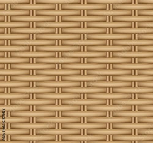 Obraz Vector seamless texture of a wicker basket. - fototapety do salonu