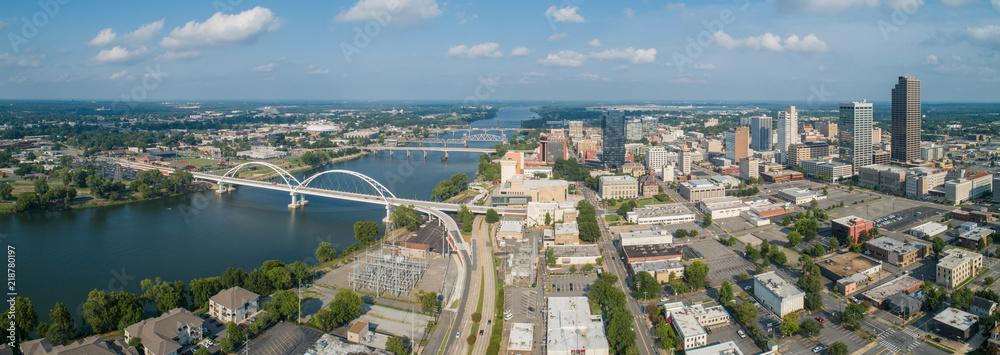 Fototapety, obrazy: Aerial Downtown Little rock Arkansas USA