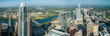 canvas print picture - Aerial drone panorama of Downtown Austin Texas USA