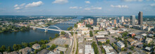 Aerial Downtown Little Rock Arkansas USA