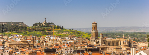 Panorama of the skyline of Tudela, Spain