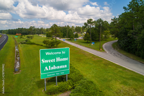 Aerial photo Welcome to Sweet Home Alabama USA Canvas Print