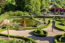 Beautiful Green Garden From Top View