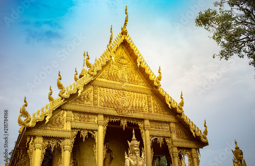 Spoed Foto op Canvas Bedehuis Architecture Thai Temple Public place