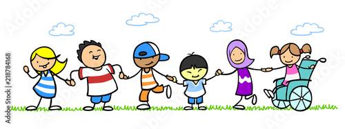 Foto Integration und Inklusion durch multikulturelle Kinder