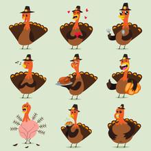 Cute Turkey Cartoon Character ...