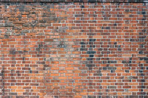 Foto op Plexiglas Wand Background of old brick wall pattern texture.
