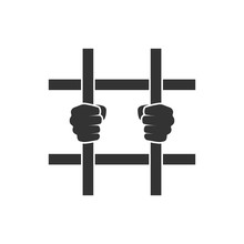 Hands Behind Bars Icon