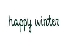 Happy Winter Holidays Beautiful Dark Green Lettering