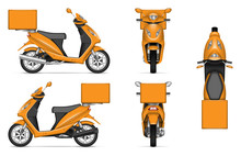 Delivery Scooter Vector Mockup...