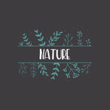 Nature Hand Drawn Poster. Vector Card - 218797195