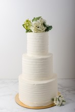 3 Tier Wedding Cake With Butte...