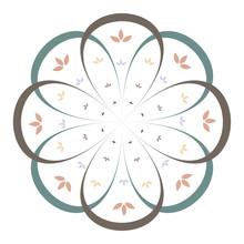 Minimalist Floral Mandala