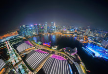 Downtown Singapore City In Mar...