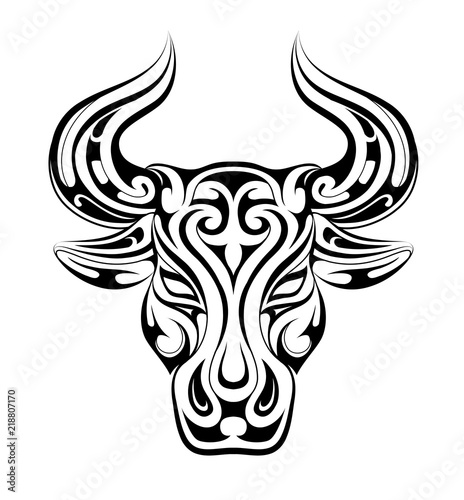 Taurus tattoo as zodiac symbol Wallpaper Mural