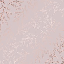 Rose Gold. Vector Pattern With...