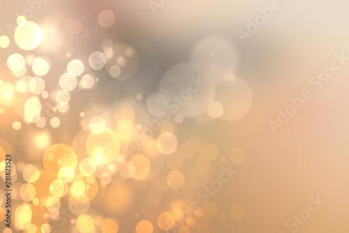 Fototapeta Abstract blurred festive background  for Christmas with bokeh defocused golden lights. obraz na płótnie