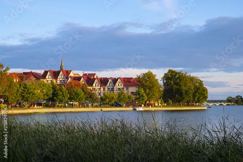 Fototapeta Elk, Poland - Panoramic view of the town of Elk at the Elckie lake obraz